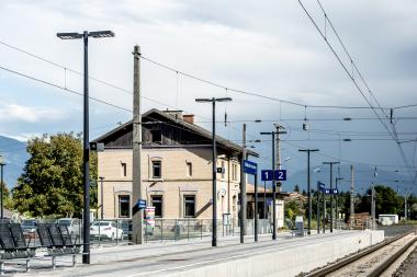 Bahnhof-Haltestelle Mühldorf